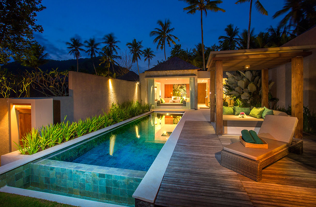 Candi beach villas for Small luxury beach hotels